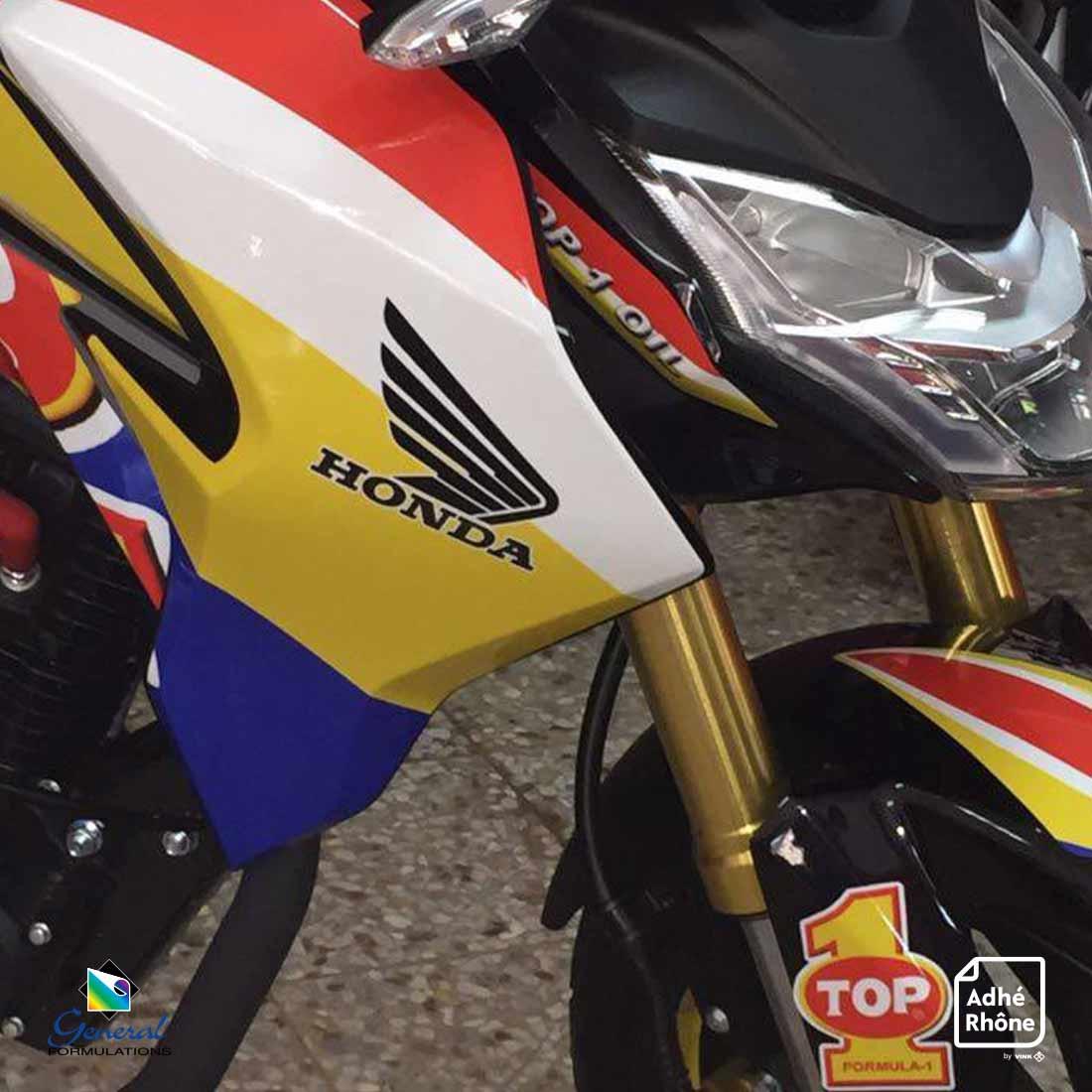 Lamination pour kits motos